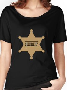 Sheriff's Star Women's Relaxed Fit T-Shirt