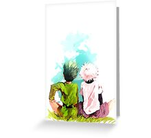 Hunter x Hunter-Gon Freecss & Killua Zoldyck Greeting Card