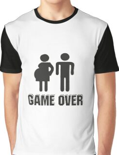 Funny T-Shirt for Dad Mum - Game over Graphic T-Shirt