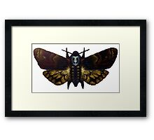 Digital Painted Death's Head Moth Framed Print