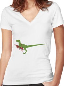 Raptastic Women's Fitted V-Neck T-Shirt
