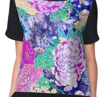 Oriental flowers Chiffon Top