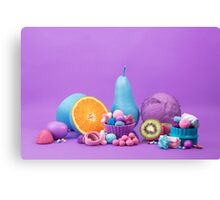 Still Life with Fruit and Candy I Canvas Print