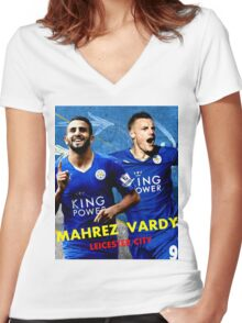 HOT ITEM MAHREZ VARDY LEICESTER CITY - 01 Women's Fitted V-Neck T-Shirt