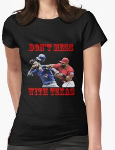 don't mess with texas Womens Fitted T-Shirt