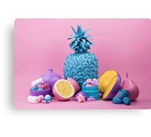 Still Life with Fruit and Candy II Canvas Print