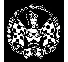 Miss Fortune Race Starter Rockabilly Girl Photographic Print