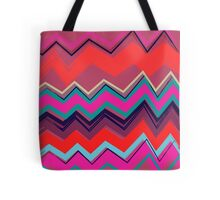 Fresh Painted Chevron Tote Bag