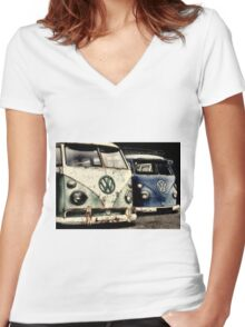 On the Buses Women's Fitted V-Neck T-Shirt