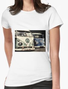 On the Buses Womens Fitted T-Shirt