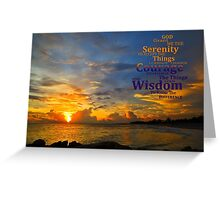 Serenity Prayer Sunset By Sharon Cummings Greeting Card