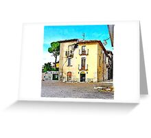 L'Aquila: collapsed building Greeting Card