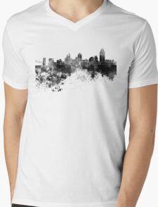 Cincinnati skyline in black watercolor Mens V-Neck T-Shirt