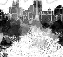 Cincinnati skyline in black watercolor Sticker