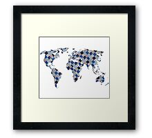 Patch up the World Framed Print