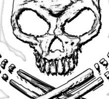 Skull Metal Sticker
