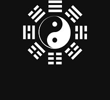 Yin Yang, I Ching, Martial Arts, Chinese, WHITE on BLACK Unisex T-Shirt