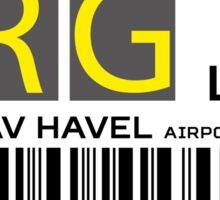 Destination Prague Airport Sticker