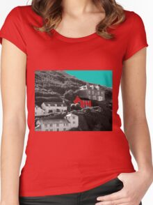 Port Isaac/Port Wenn - Doc Martin's House Women's Fitted Scoop T-Shirt