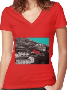 Port Isaac/Port Wenn - Doc Martin's House Women's Fitted V-Neck T-Shirt