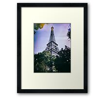 Eiffel Tower, Paris, Ile-de-France, France. Framed Print
