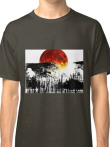 The Red Moon - Landscape Art By Sharon Cummings Classic T-Shirt