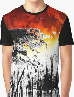 The Red Moon - Landscape Art By Sharon Cummings Graphic T-Shirt