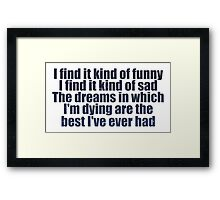 #MadWorld Framed Print