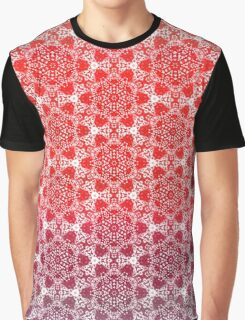 Red Dots Pattern Graphic T-Shirt