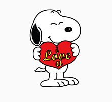 Snoopy love Womens Fitted T-Shirt