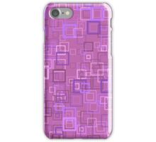 Pop art retro pop squares purple iPhone Case/Skin