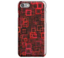Pop art retro pop squares red iPhone Case/Skin