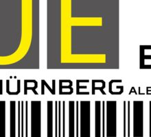Destination Nuremberg Airport Sticker