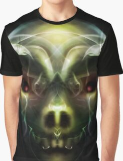 Skull With Horns Graphic T-Shirt