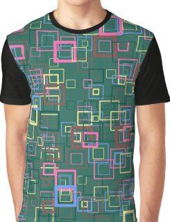 Pop art retro pop squares green Graphic T-Shirt