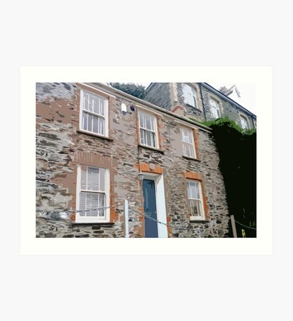 Doc Martin's House, Port Isaac (Port Wenn) Art Print