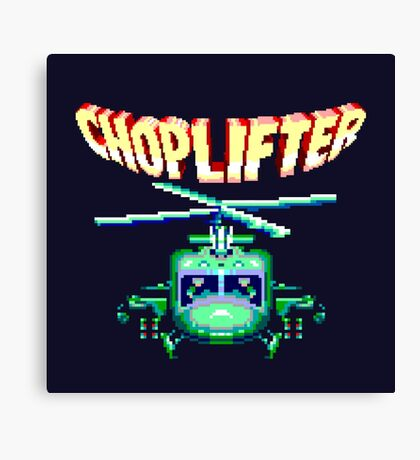 CHOPLIFTER SEGA ARCADE Canvas Print
