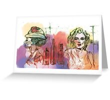 Marylin & Audrey Greeting Card