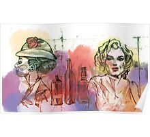 Marylin & Audrey Poster