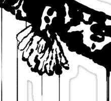 Splatter Eagle (black) Sticker