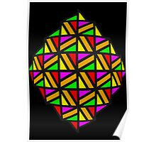 Colourful Stained Glass Poster