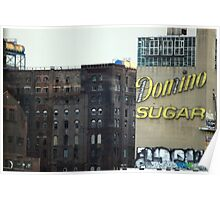 Domino Sugar building, Brooklyn Poster