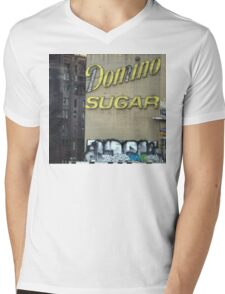 Domino Sugar building, Brooklyn Mens V-Neck T-Shirt