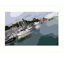 Padstow Harbour Art Print