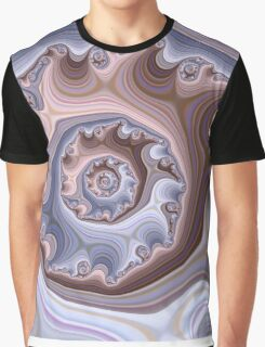 Purple Fractal Graphic T-Shirt