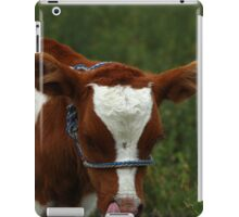 Calf Sticking Out Its Tongue iPad Case/Skin
