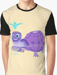 The Purple Turtle And A Bluebird Of Glee Graphic T-Shirt