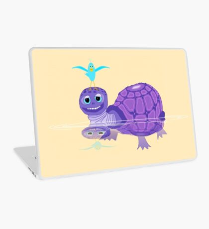 The Purple Turtle And A Bluebird Of Glee Laptop Skin