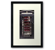 Black Phone Box Framed Print