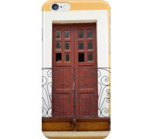 Brown Door and Balcony iPhone Case/Skin